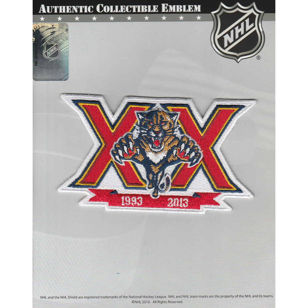 Florida Panthers 20th Anniversary Jersey Patch
