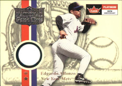Photo of 2001 Fleer Platinum National Patch Time #1 Edgardo Alfonzo S1