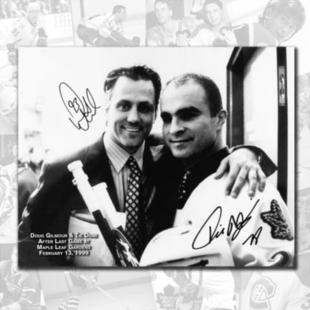 Doug Gilmour & Tie Domi Toronto Maple Leafs Closing of the Gardens Dual Autographed 8x10