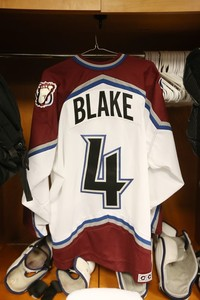 Rob Blake Colorado Avalanche Game Worn Jersey