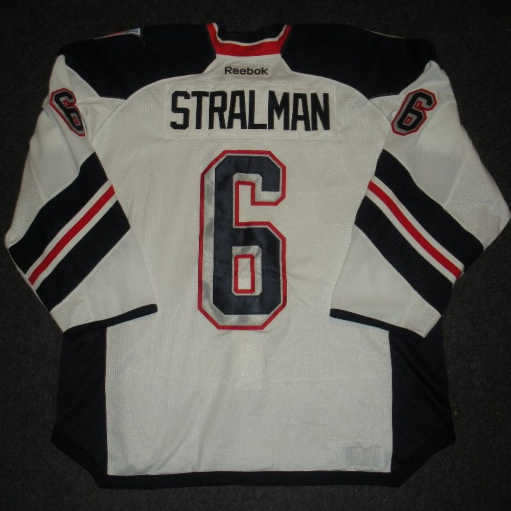 Anton Stralman - 2014 Stadium Series - New York Rangers - White Game-Worn Jersey - Worn in First Period - 1/26/14 & 1/29/14
