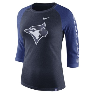 Toronto Blue Jays Women's 3/4 Raglan 1.8 T-Shirt by Nike