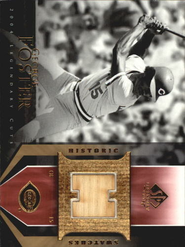 Photo of 2004 SP Legendary Cuts Historic Swatches #GF George Foster Bat