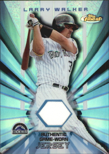 Photo of 2002 Finest Jersey Relics #FJRLW Larry Walker