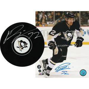 Patric Hornqvist Autographed Pittsburgh Penguins Combo Lot - 8X10 Photo & Puck