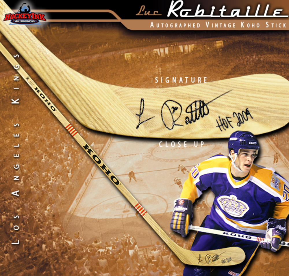 LUC ROBITAILLE Signed Vintage Koho Stick - Los Angeles Kings