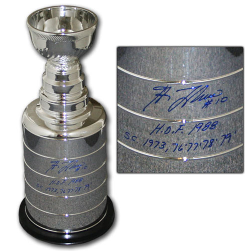 Guy Lafleur (Montreal Canadiens) Autographed 2' Stanley Cup Replica w/