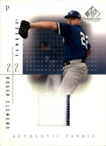 Photo of 2001 SP Game Used Edition Authentic Fabric #RC Roger Clemens