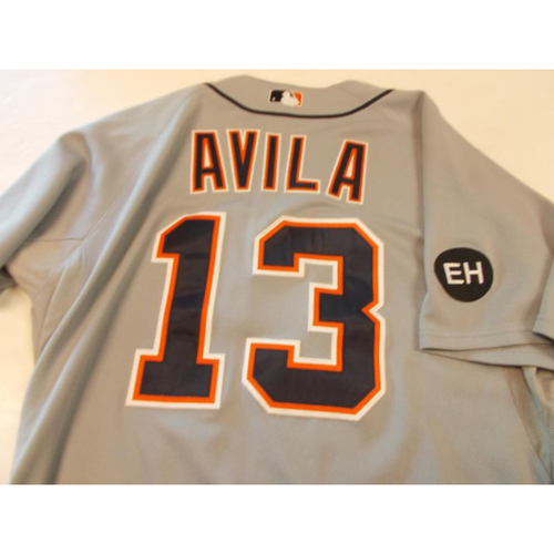 Photo of Game-Used Alex Avila Road Jersey with EH Patch