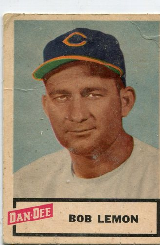 Photo of 1954 Dan-Dee #15 Bob Lemon -- Indians Hall of Famer