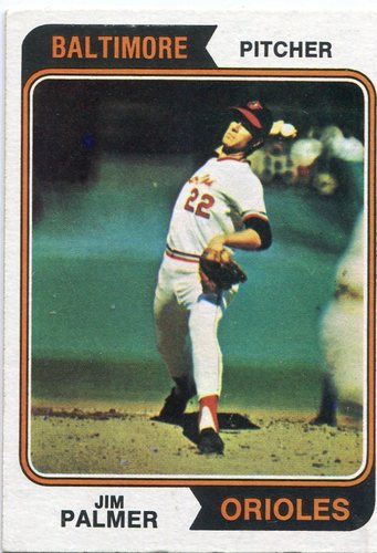 Photo of 1974 Topps #40 Jim Palmer Hall of Famer