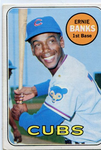 Photo of 1969 Topps #20 Ernie Banks -- Hall of Famer