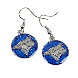Toronto Blue Jays Glitter Dangler Earrings by Aminco