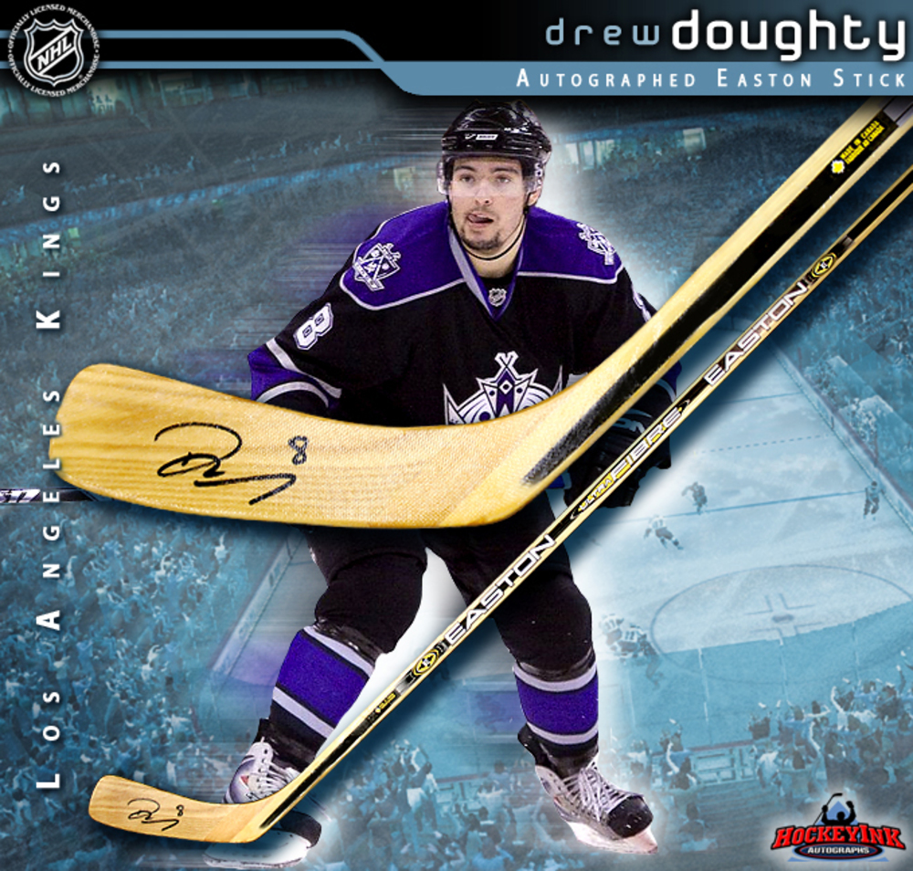 DREW DOUGHTY Signed Easton Stick - Los Angeles Kings