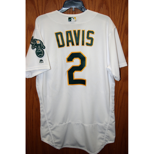 Photo of Khris Davis Game-Used 2017 Opening Day Jersey - 2 HR's