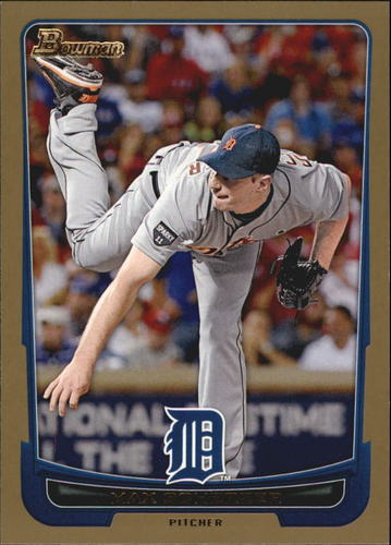 Photo of 2012 Bowman Gold #164 Max Scherzer -- Nationals post-season