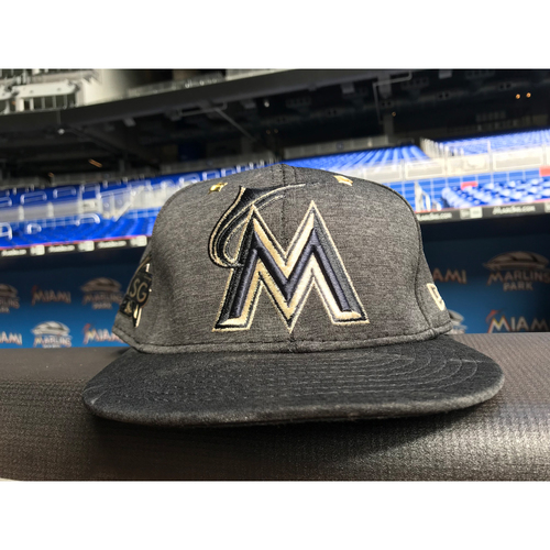 Photo of Team Issued Hat: 2017 ASG Marcell Ozuna - Size 7 3/8