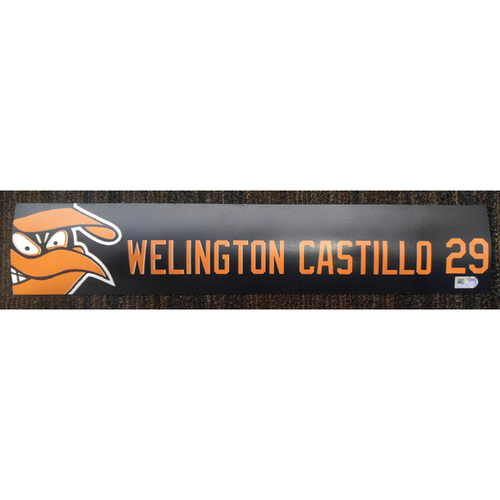 Welington Castillo - 2017 Locker Tag: Team-Issued