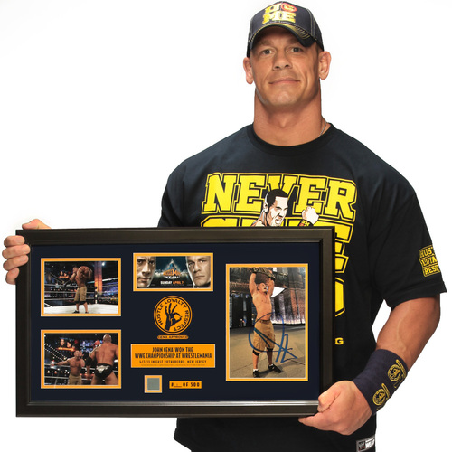 John Cena WrestleMania 29 SIGNED Commemorative Plaque (#1 of 500)