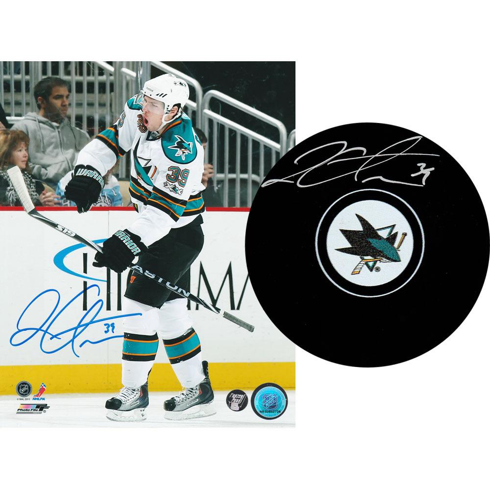 Logan Couture Autographed San Jose Sharks Combo Lot - 8X10 Photo & Puck