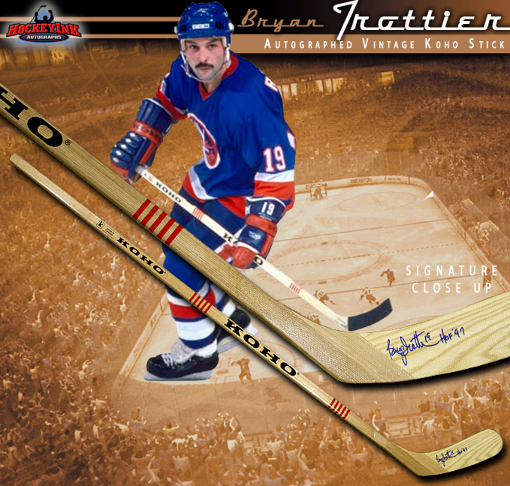 BRYAN TROTTIER Signed Vintage Koho Stick - New York Islanders