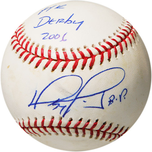 Photo of Autographed Game-Used Baseball from 2006 Home Run Derby: Batter - David Ortiz, Round 2, Out #7, Inscribed HR Derby 2006