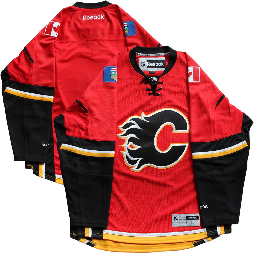 Calgary Flames Red Reebok 2016-2017 Season Jersey (Size L)