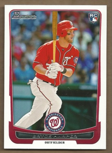 Photo of 2012 Bowman Draft #10 Bryce Harper Rookie Card  -- Nationals post-season