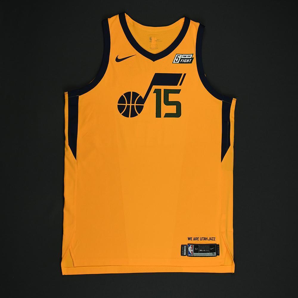 Derrick Favors - Utah Jazz - Game-Worn 'Statement' Jersey - 2017-18 Season - Double-Double