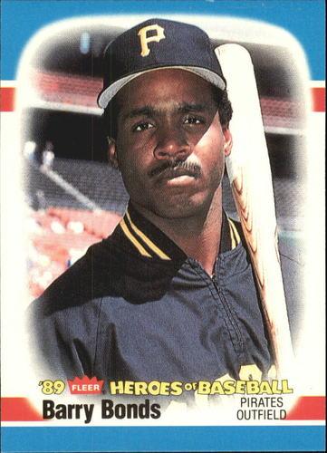 Photo of 1989 Fleer Heroes of Baseball #3 Barry Bonds