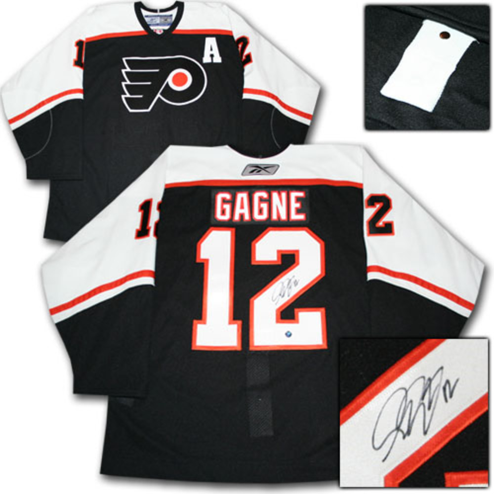 Simon Gagne Autographed Philadelphia Flyers Authentic Pro Jersey