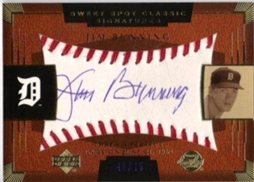 Photo of 2004 Sweet Spot Classic Signatures Blue #32 Jim Bunning/65