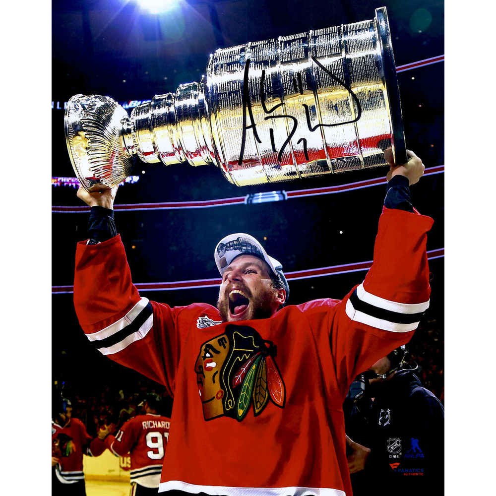 Andrew Desjardins Chicago Blackhawks 2015 Stanley Cup Champions Autographed 8