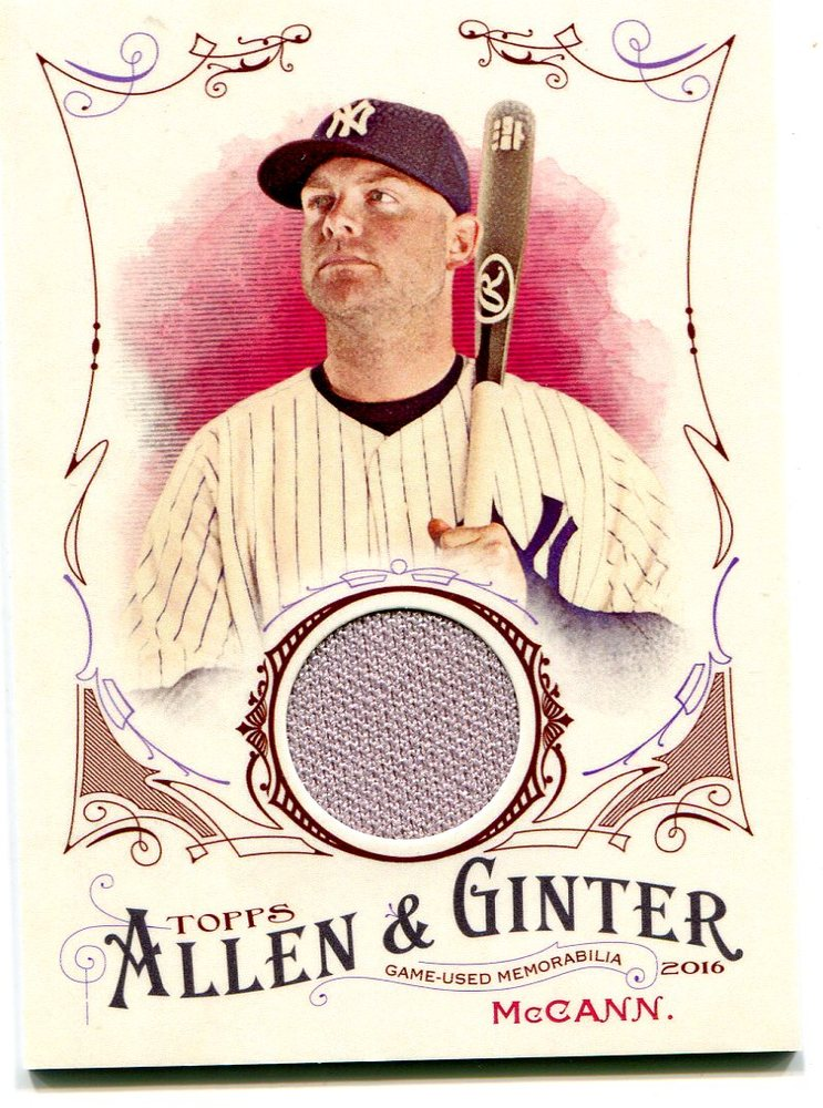 2016 Topps Allen and Ginter Relics jersey Brian McCann