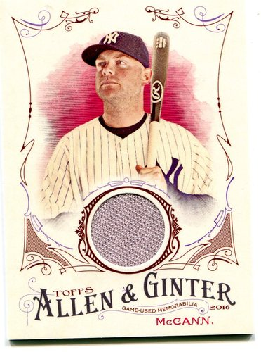 Photo of 2016 Topps Allen and Ginter Relics jersey Brian McCann