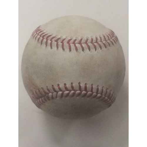 Photo of Aaron Judge Game-Used Strikeout Baseball - June 12th 2017