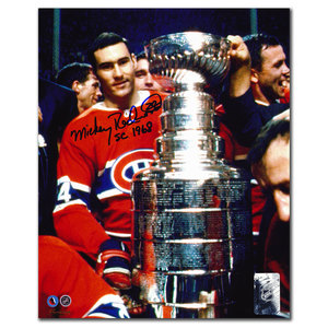 Mickey Redmond Montreal Canadiens SC 1968 Autographed 8x10