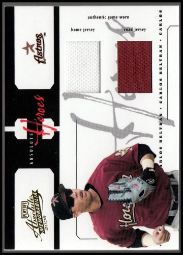 Photo of 2005 Absolute Memorabilia Heroes Swatch Double #54 Carlos Beltran J-J/45