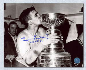 Ted Lindsay Detroit Red Wings Autographed Stanley Cup 8x10 Photo