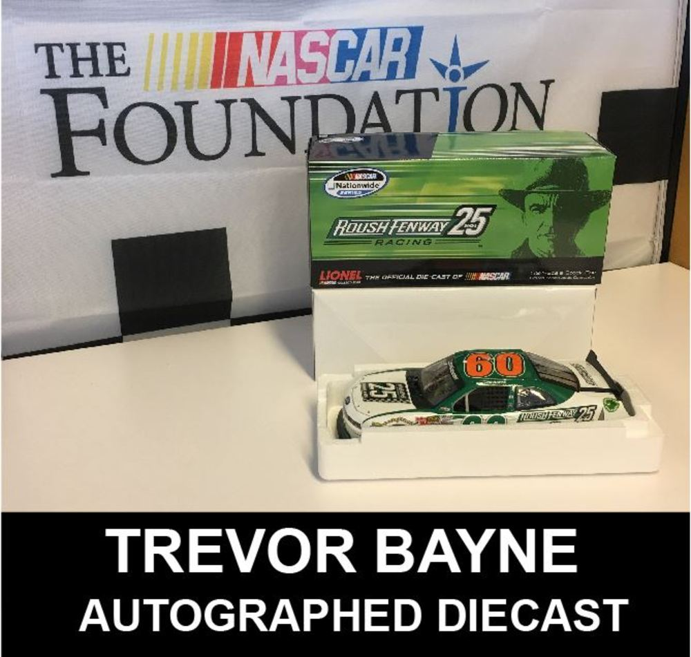 Trevor Bayne Autographed Roush Racing 25 years diecast 1:24