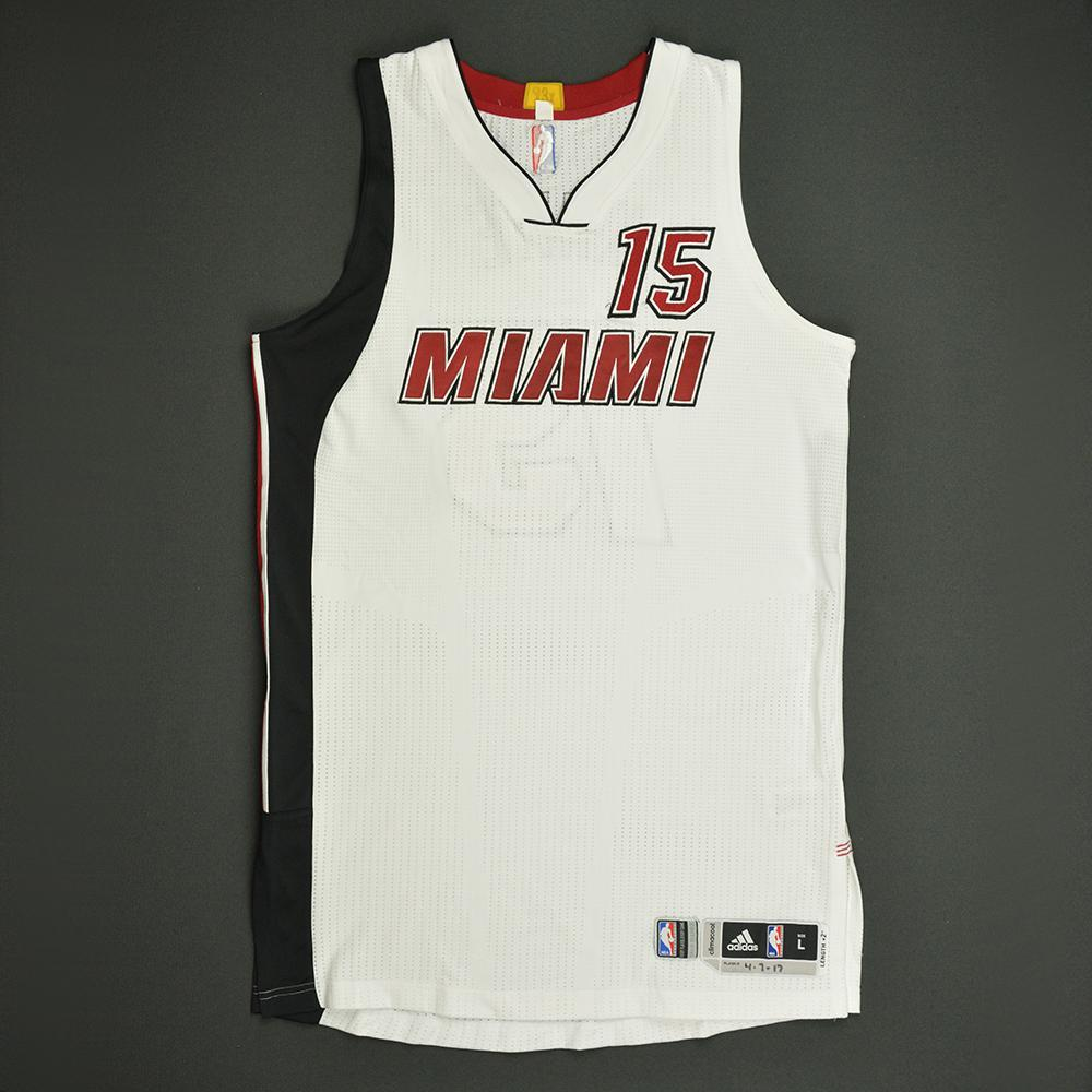 Okaro White - Miami Heat - Game-Worn White Alternate Jersey - 2016-17 Season