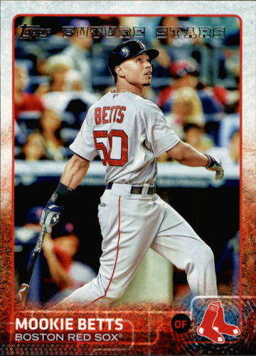Photo of 2015 Topps #389A Mookie Betts -- Red Sox post-season
