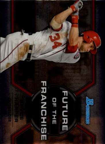 Photo of 2013 Bowman Draft Future of the Franchise Bryce Harper -- Nationals post-season
