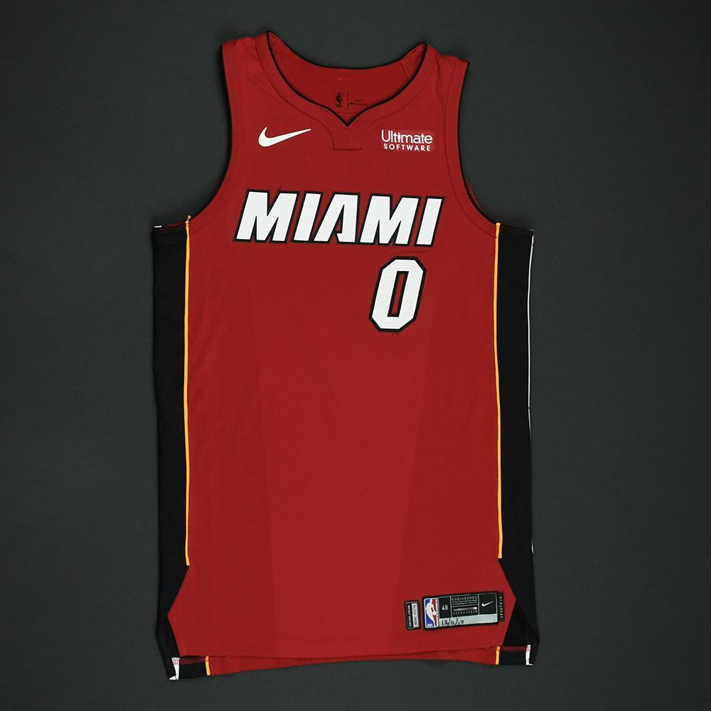 Josh Richardson - Miami Heat - Game-Worn 'Statement' Jersey - 2017-18 Season