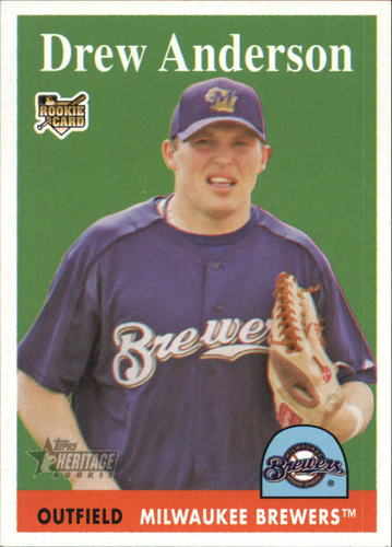 Photo of 2007 Topps Heritage #283 Drew Anderson RC