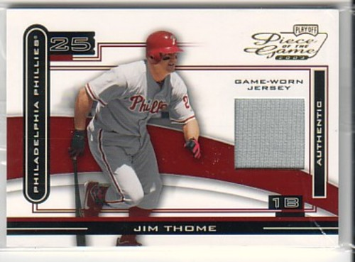 Photo of 2003 Playoff Piece of the Game #48A Jim Thome Jsy