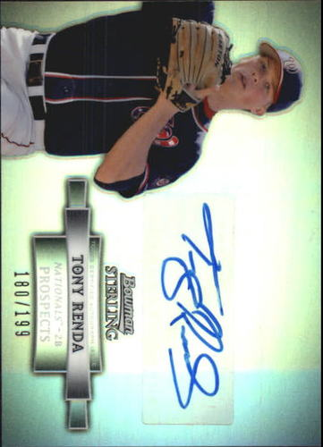 Photo of 2012 Bowman Sterling Prospect Autographs Refractors #TRE Tony Renda