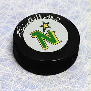 Brian Bellows Minnesota North Stars Autographed Hockey Puck