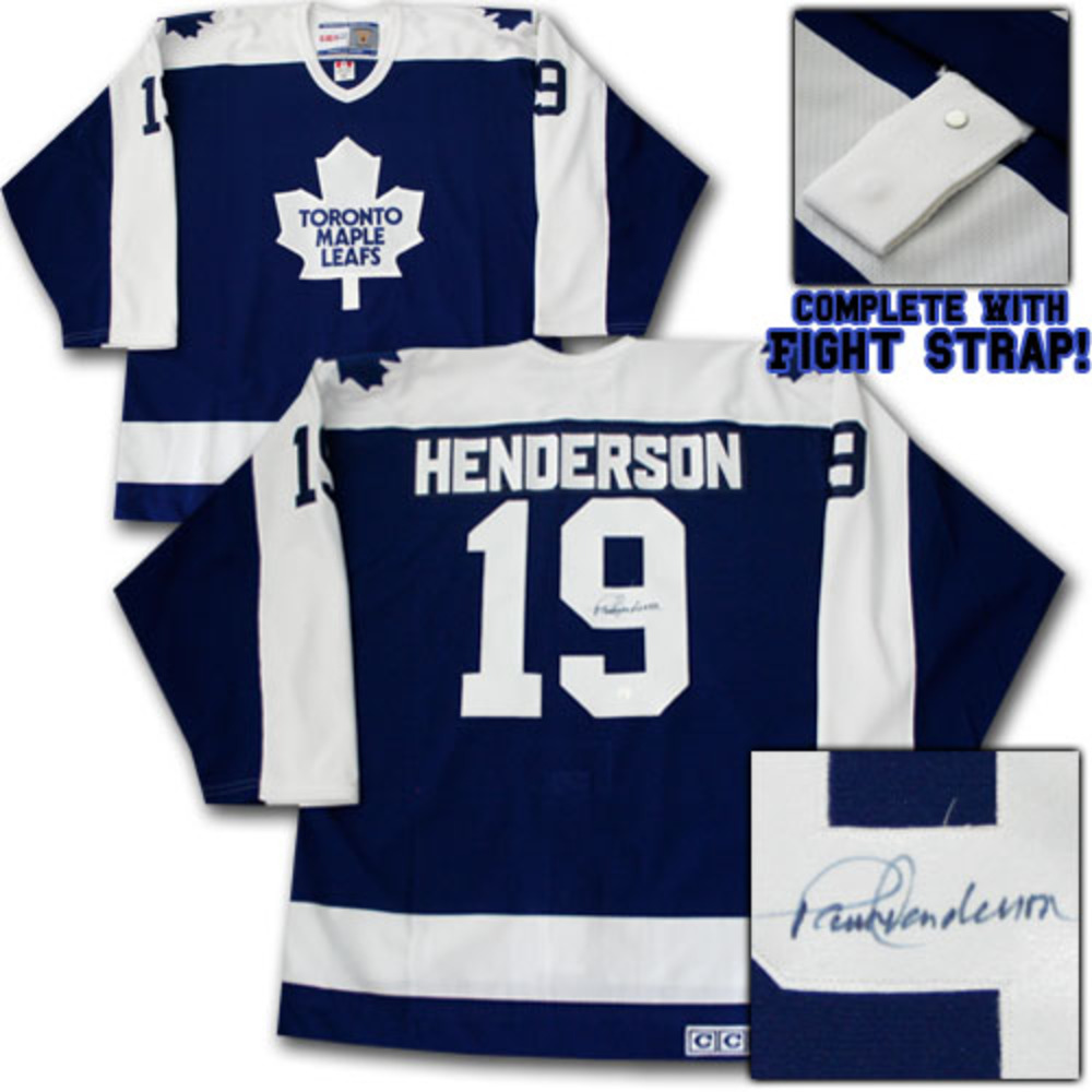 Paul Henderson Autographed Toronto Maple Leafs Authentic Pro Style Jersey