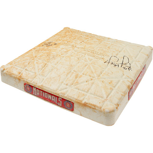 Photo of Autographed Game-Used Base from David Ortiz's 1000th Career RBI Game, Inscribed - 1000 RBI Game